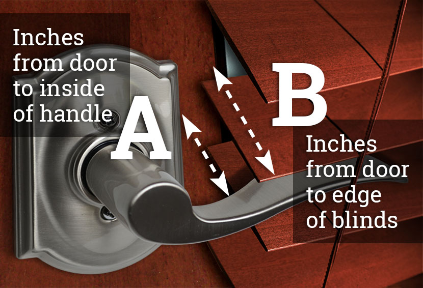 determining the correct extension size for lever door handles